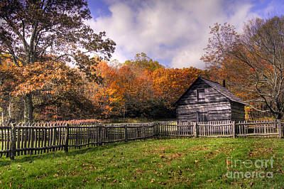 Pucketts Photograph - Orlean Puckett's Cabin by Benanne Stiens