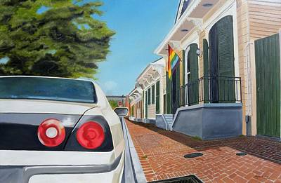Rights Painting - Orleans Avenue- French Quarter by Bryan Ory