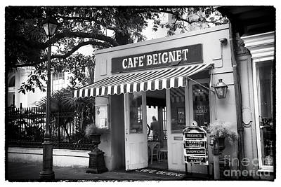 Orleans Cafe Beignet Art Print by John Rizzuto