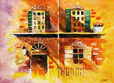 Art Print featuring the painting Orleans Vignette by Al Brown