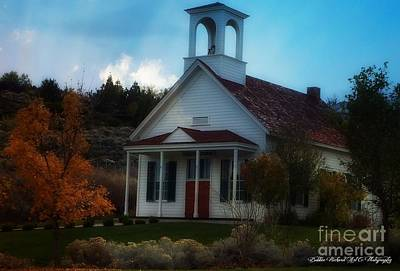 Photograph - Huffaker School House Of Nevada by Bobbee Rickard