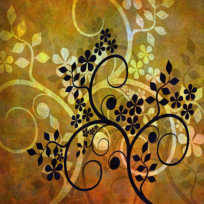 Mixed Media Royalty Free Images - Ornamental 1 Version 2 Royalty-Free Image by Angelina Tamez