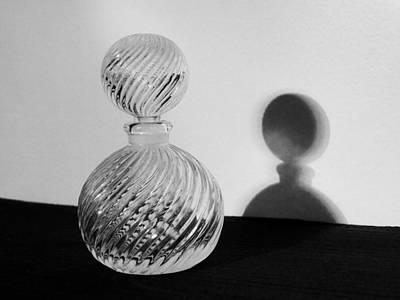 Glasswork Photograph - Ornamental Glass Bottle by Tom Druin