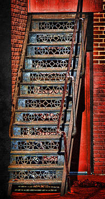 Photograph - Ornamental Iron Stairs by Sylvia Thornton