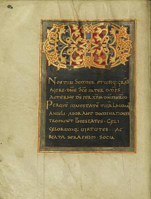 Ornamented Monogram Vd Unknown Saint-benoît-sur-loire Art Print