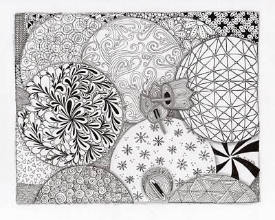 Zia Drawing - Ornaments Galore by Paula Dickerhoff