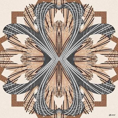 Digital Art - Ornate 10 Tile Print by Brian Johnson
