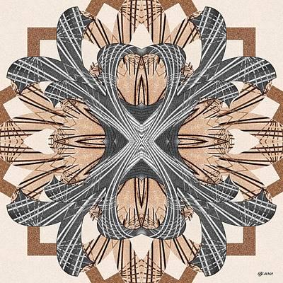 Digital Art - Ornate 12 Tile Print by Brian Johnson