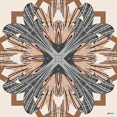 Digital Art - Ornate 13 Tile Print by Brian Johnson