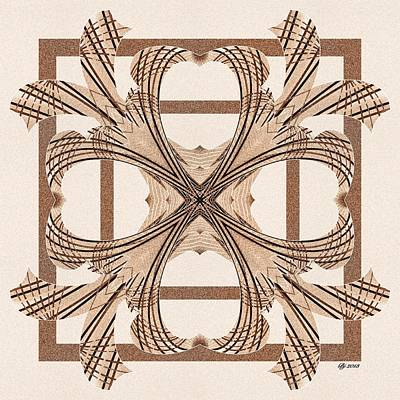 Digital Art - Ornate 7 Tile Print by Brian Johnson