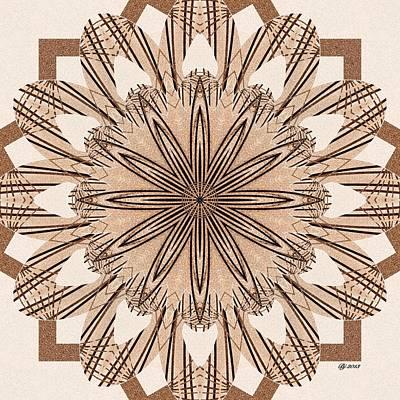 Digital Art - Ornate 8 Tile Print by Brian Johnson