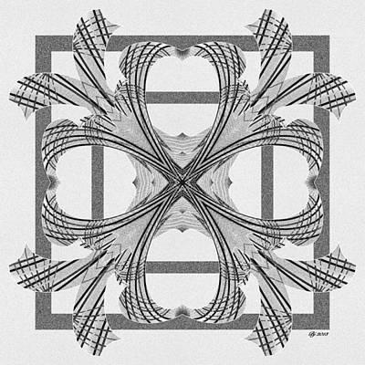Digital Art - Ornate 9 Tile Print by Brian Johnson