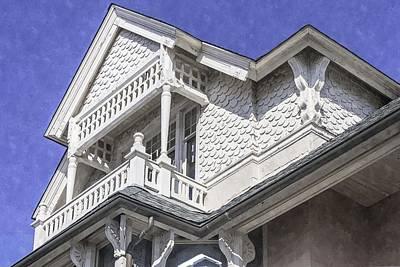 Ornate Balcony With View Art Print by Lynn Palmer