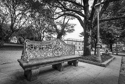 Art Print featuring the photograph Ornate Bench by Gary Gillette