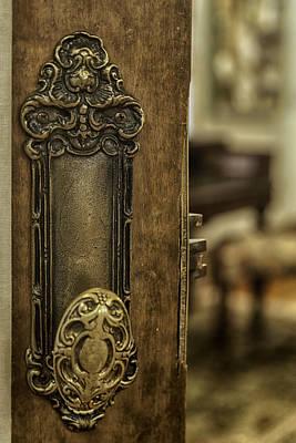 Ornate Brass Doorknob Print by Lynn Palmer