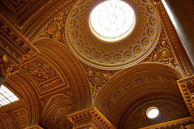 Photograph - Ornate Ceiling Of Versailles by Anthony Doudt