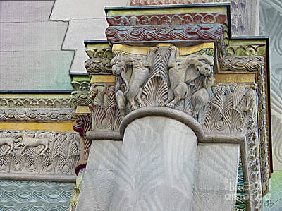 Ornate Columns Giclee Art Print by CR Leyland
