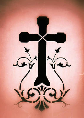 Photograph - Ornate Cross Stencil by Tony Grider