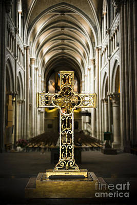Switzerland Photograph - Ornate Crucifix In Cathedral by Oscar Gutierrez