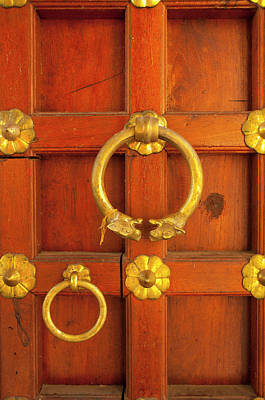 Hardware Photograph - Ornate Door At The City Palace by Inger Hogstrom
