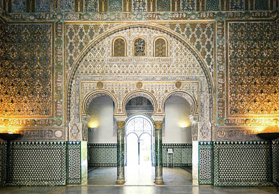 Spain Photograph - Ornate Door Inside The Alcazar Palace by Matteo Colombo
