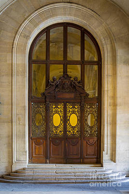 Photograph - Ornate Door - Paris by Brian Jannsen