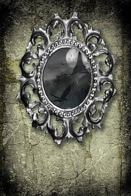 Photograph - Ornate Metal Mirror Reflecting Church by Amanda Elwell