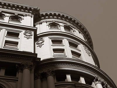 Photograph - Ornate Vintage Buildings In Sepia - San Francisco by Connie Fox