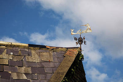 Metal Work Photograph - Ornate Weather Vane Depicting A Hunting by Panoramic Images