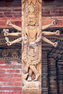 Wood Carved Photograph - Ornately Carved Wood On An Old Building by Ashley Cooper