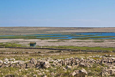Photograph - Ornithological Reserve On Pag Island With Watching Tower by Brch Photography