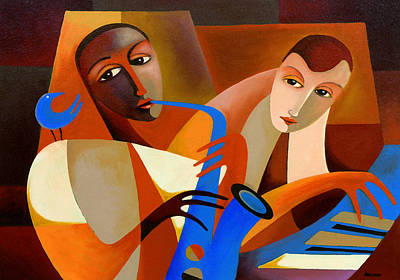 Piano Painting - Ornithology - Charlie Parker With Dodo Marmarosa 1946 by Thomas Andersen