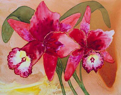Painting - Oro Orchid Red Redeux by Patricia Beebe