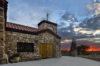 Photograph - Oro Valley United Church Of Christ Sunset by Dave Dilli