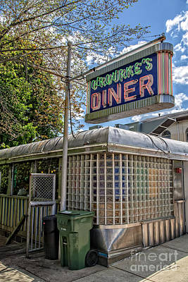 Photograph - Orourkes Diner Middletown Connecticut by Edward Fielding