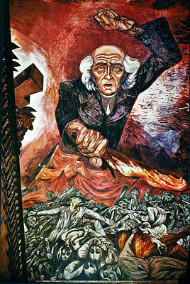 Clemente Painting - Orozco 'father Hidalgo' by Granger