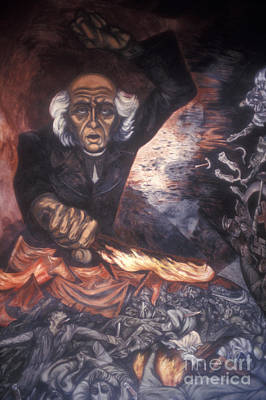 Latin America Photograph - Orozco Mural Guadalajara by John  Mitchell