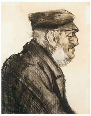 Orphan Man Bust-length Art Print by Vincent van Gogh