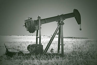 Oil Pump Photograph - Orphans Of The Texas Oil Fields by Christine Till