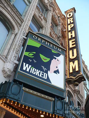 Theatre Photograph - Orpheum Sign by Carol Groenen