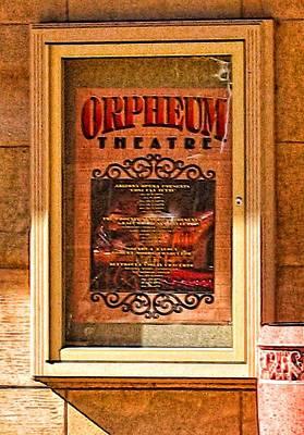 Digital Art - Orpheum Theater Phoenix Playbill by Doug Morgan