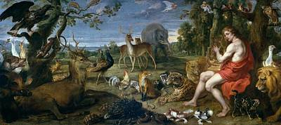 1636 Painting - Orpheus And Animals by Frans Snyders