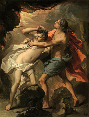 Orpheus Painting - Orpheus And Eurydice by Gaetano Gandolfi
