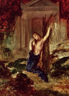 Moreau Painting - Orpheus At The Tomb Of Eurydice by Gustave Moreau