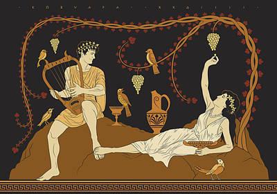 Digital Art - Orpheus Courts Eurydice by Matthew Kocvara