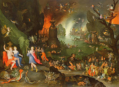 Monster Photograph - Orpheus With A Harp Playing To Pluto And Persephone In The Underworld Oil On Panel by Jan the Elder Brueghel