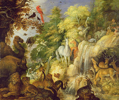 Orpheus With Birds And Beasts, 1622 Art Print