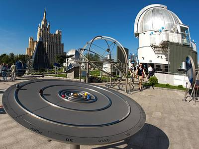 Orrery Photograph - Orrery In Moscow Sky Park by Science Photo Library