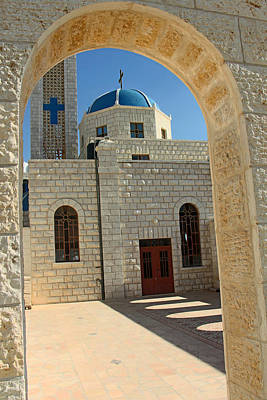 Orthodox Church Entrance Original by Munir Alawi