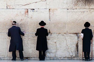 Orthodox Jewish Men Praying At The Art Print by Nils Juenemann / Eyeem